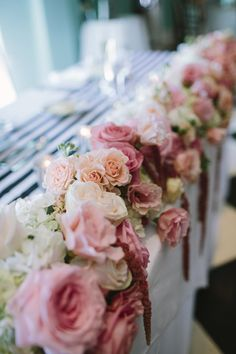 Cape May Wedding Florist - A Garden Party florist - Congress Hall - Brooke Courtney Photography - black and white wedding - blush wedding flowers - peonies - lace canopy - cake box - amaranthus