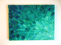 Original abstract painting 11 x 14 - Sea