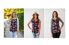 BEAUTIFUL FLORAL FRONT BLOUSES  Long Sleeved Blouses With Floral Printed Fronts  STARTING AT  $24.99 ($48.00)  48% OFF