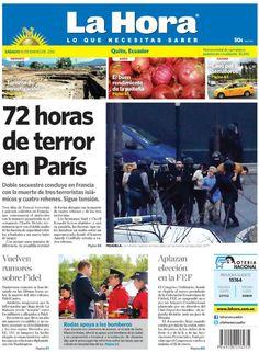 Los temas destacados son: 72 horas de terror en París, Turismo de investigación, Vuelven rumores sobre Fidel, Aplazan elección FEF, Caos por 8 semáforos