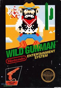 Wild Gunman for the Nintendo NES. Vintage Video Games, Classic Video Games, Retro Video Games, Video Game Art, Retro Games, V Games, Arcade Games, Game Boy, Back To The Future Party