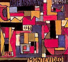 Joaquin Torres-Garcia, Abstract Art in Five Tones and complementaries (1943) Uruguay  artist