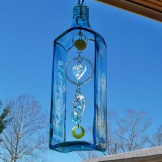 Bombay Sapphire Bottle Windchime by CBreezeDesigns on Etsy, $49.00