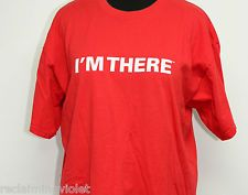 """State Farm Insurance T-shirt Red Jake """"I'm There"""" Gag Top White Elephant Size XL"""