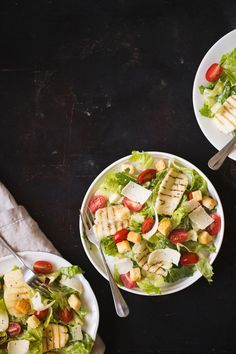 Pasta Salad, Cobb Salad, Dessert Drinks, Desserts, Healthy Food, Healthy Recipes, My Cookbook, Halloumi, Food And Drink