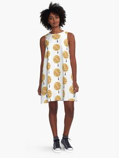 A new, comfortable #dress with a tree pattern in autumnal colors. @redbubble