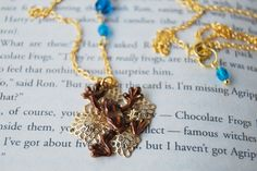Chocolate Frog Necklace #enchantedleaves #harrypotter #chocolatefrognecklace