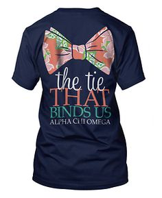 I know this is a sorority shirt, but when I saw this I thought 11th Doctor.
