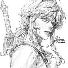 Line Drawing, pilyeon . Anime Drawings Sketches, Art Drawings, 8bit Art, Art Poses, Drawing Reference Poses, Art Studies, Pretty Art, Manga Art, Art Inspo