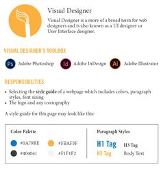 Understanding Different Types of Web Designers: Visual Designer Infographic