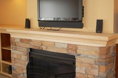 Remodelaholic | Amazing DIY Fireplace and Built-Ins