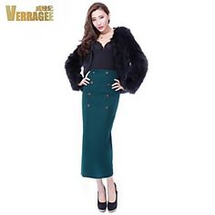 Verragee Fashion Woolen Skirts Package Hip Skirt Slim Thin Base Skirt Large Size Women