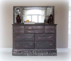 Bliss Ranch: Dresser redo before and after
