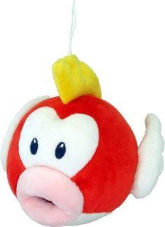 "Official Nintendo Mario Plush Series Stuffed Toy - 6"" Pukupuku / Cheep Cheep (Japanese Import) by Japan VideoGames, http://www.amazon.com/dp/B004DNXATI/ref=cm_sw_r_pi_dp_5pKGpb1M56GT5"