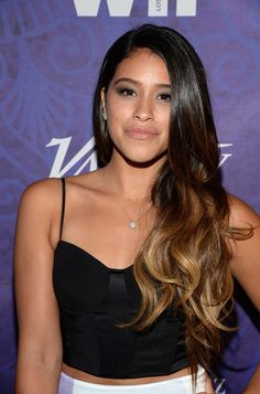 Gina Rodriguez Ombre Hair - Gina Rodriguez wore her long hair down in ombre waves during the Variety and Women in Film Emmy nominee celebration. Gina Rodriguez, Hair Color Balayage, Ombre Hair, Hair Photo, Messy Hairstyles, Latina Hairstyles, Waves, Hair Dos, Hair Trends