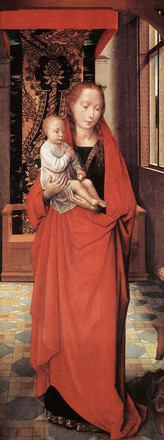 Virgin and Child with St. Anthony the Abbott, 1472) Hans Memling Flemish school (1435-1494) - left side of panel