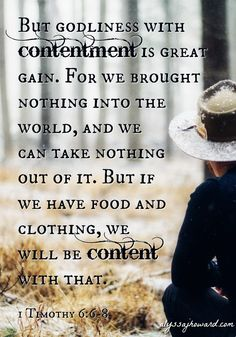 Chasing after worldly wealth will always lead to discontentment and a desire for more.
