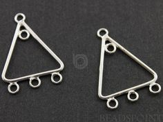 Sterling Silver Triangle Earring Component Gorgeous by Beadspoint, $5.99