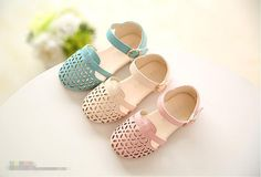 New 2016 summer children shoes kids hollow out  sandals girls princess shoes baby flat shoes alishoppbrasil