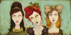 The Bridesmaids - just discovered this artist- Cassandra Barney.  love her art!