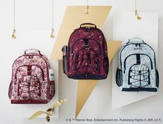 Fun, enchanting and nothing but magical, show off your love for HARRY POTTER™ with our NEW backpacks! Which pattern do you like best?? #harrypotter#mypbteen