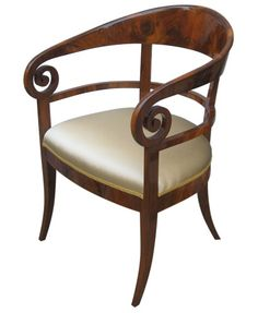 Biedermeier chair #GISSLER #interiordesign Antique Chairs, Antique Furniture, Empire Furniture, Biedermeier, Love Chair, My Home Design, Furniture Styles, Furniture Design, Custom Furniture