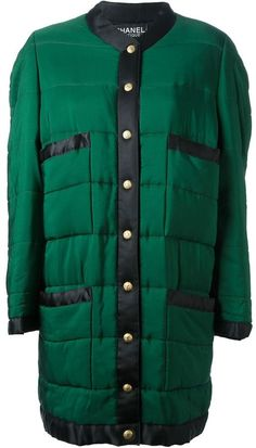 Chanel colour block padded jacket on shopstyle.com