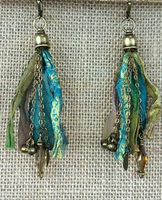 Golden Aqua Signature Tassel Earrings $55.00 – Pure Awakened Energy