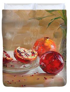 Pomegranates Duvet Cover by Ylli Haruni