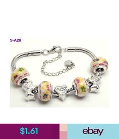 e769c2cdb 1Pc Handmade Porcelain Glass & Metal Beaded European Charm Bracelet S-A28 # ebay #Fashion
