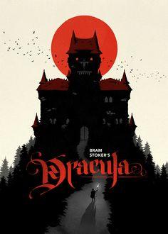 Three posters: Dracula — by Levente Szabó, via Behance