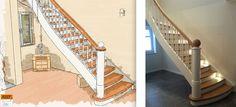 Unser Mitgliedsunternehmen Tischlerei Albers  - Geschlossene Massivholztreppe mit Treppenbeleuchtung -  Mehr Informationen unter http://www.treppen.de/de/portfolio-leser/tischlerei-albers.html