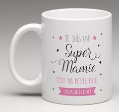 Mug personnalisé pour une super mamie. Création le monde de bibou www.lemondedebibou.com