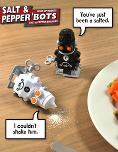robot salt and pepper comic 20 of The Most Creative and Coolest Salt and Pepper Shakers Around