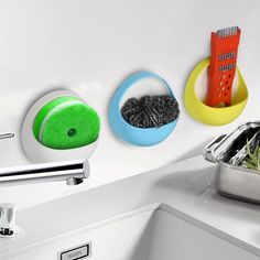 Stores the soap with easily-installed holder Strong suction cups to prevent…