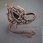 Handmade Jewelry.  Fair Masters - handmade copper bracelet Snake flower.  Handmade.