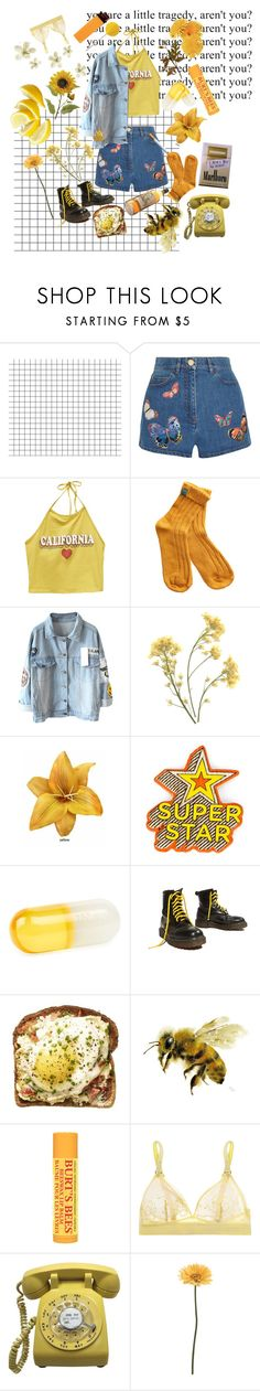 """""""Yellow"""" by sighsaturn ❤ liked on Polyvore featuring Valentino, Wet Seal, Anya Hindmarch, Jonathan Adler, Yellow Jacket, Burt's Bees, STELLA McCARTNEY and Gerber"""