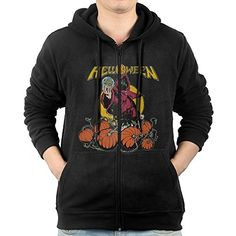 BlueFox Helloween Band halloween Handsome Mens Long Sleeve Zipup Front Jackets * For more information, visit image link.