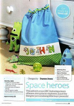 Spaceman ABC by Durene Jones  The World of Cross Stitching Issue 177 Hardcopy