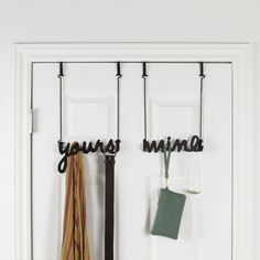 This Yours & Mine Over-the-Door Hook was designed by Korean designer Sung Wook Park for Umbra. It's a simple door or wall hanger where you leave your