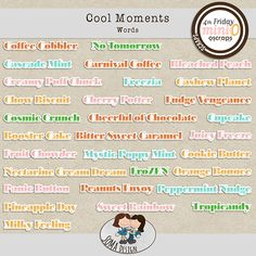 SoMa Design: Cool Moments - Words Digital Scrapbooking, Things That Bounce, Bullet Journal, In This Moment, Cool Stuff, Words, Kit, Design
