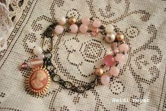 Evelyn repurposed bracelet #cameo