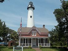 St Simon's Island, GA Lighthouse, original built in 1811, destroyed during Civil War and replacement completed in 1873.