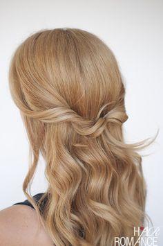 Hair Romance - Easy half up twist tutorial 1