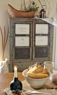 Vintage French Soul ~  The Country Farm Home: A Single Lantern, A Single Candle