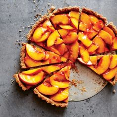 Amy Chaplin's Vegan Peach Tart  Looking for a delicious vegan recipe that will use up all those amazing summer peaches? Look no further.