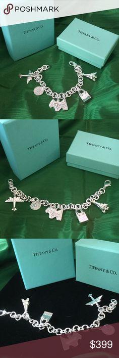 5353f735f9fa Tiffany Charm Bracelet Sterling Silver Lovely high end estate sale find