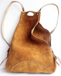 Suede handmade backpack #moscow Небольшой замшевый рюкзак ручной работы.