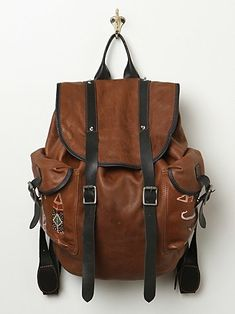 Free People Chaplin Leather Backpack. Want.