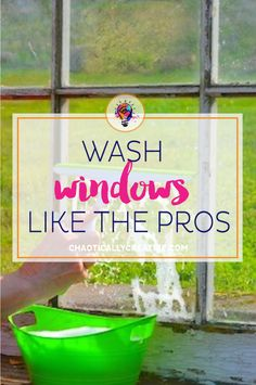 washing windows like the pros
